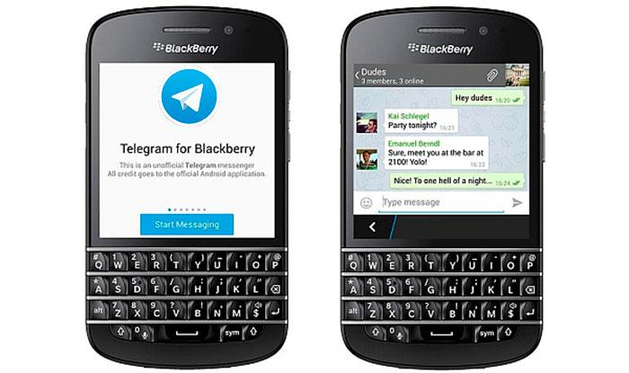 Telegram для BlackBerry скачать бесплатно Мессенджер