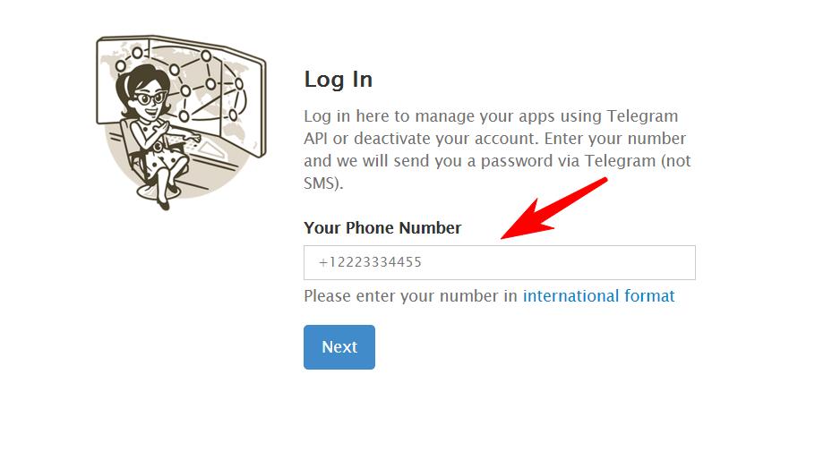 Деактивация номера Telegram