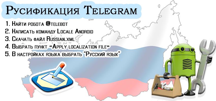 Русификатор Telegram для Android