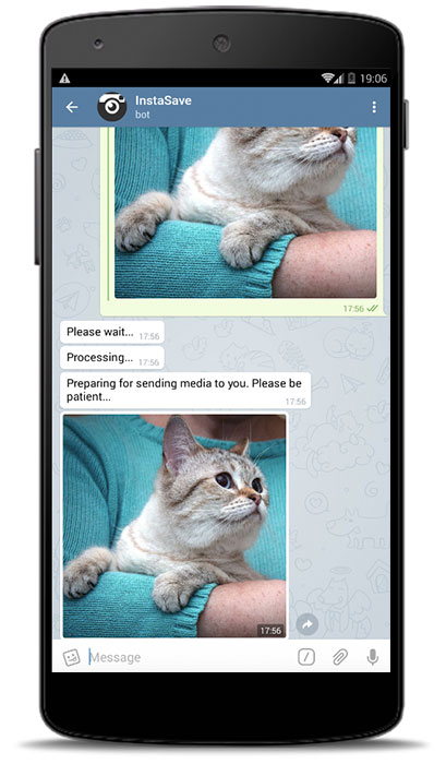 Телеграмм бот для Инстаграм